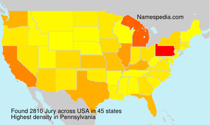 Surname Jury in USA