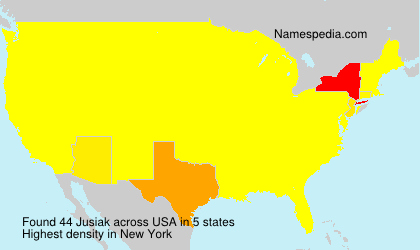 Surname Jusiak in USA