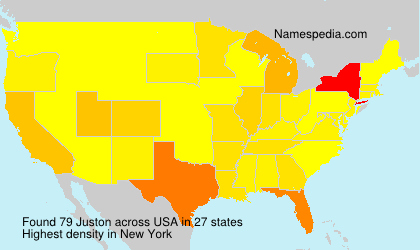 Surname Juston in USA