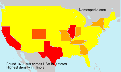 Surname Jusus in USA