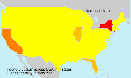 Familiennamen Jutagir - USA