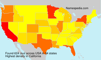Surname Juul in USA