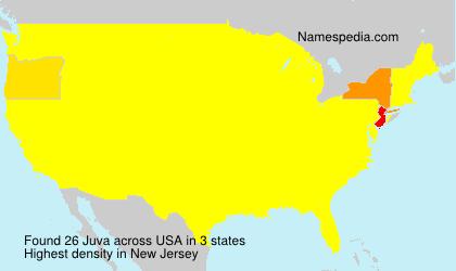 Familiennamen Juva - USA