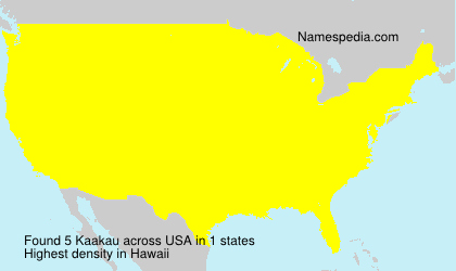 Surname Kaakau in USA