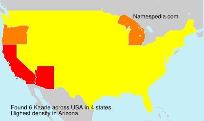 Surname Kaarle in USA