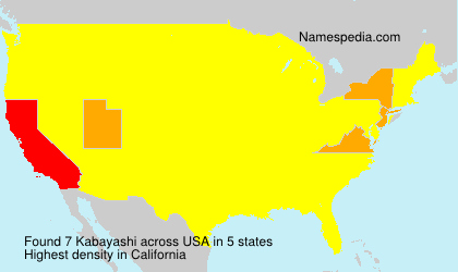 Surname Kabayashi in USA