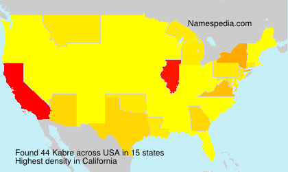Surname Kabre in USA