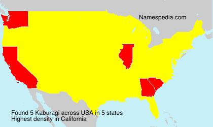 Surname Kaburagi in USA