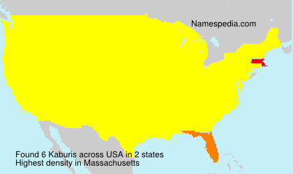 Surname Kaburis in USA