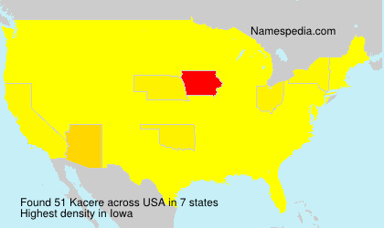 Surname Kacere in USA