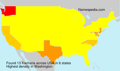 Surname Kacharia in USA
