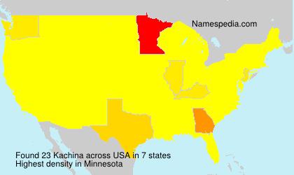 Surname Kachina in USA