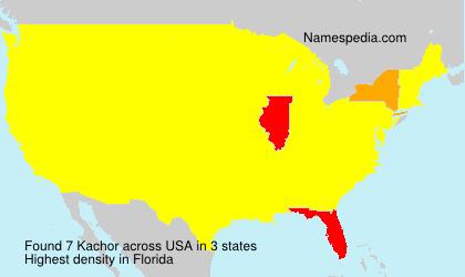 Surname Kachor in USA