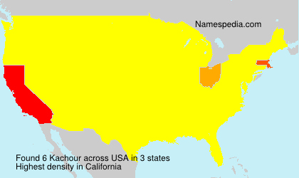 Surname Kachour in USA