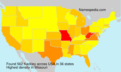 Surname Kackley in USA