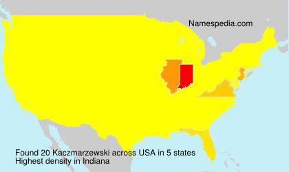 Familiennamen Kaczmarzewski - USA
