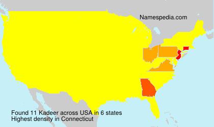 Surname Kadeer in USA
