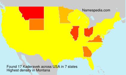 Surname Kaderavek in USA