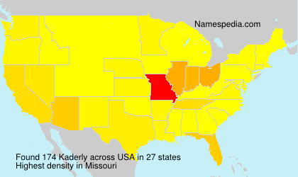 Surname Kaderly in USA