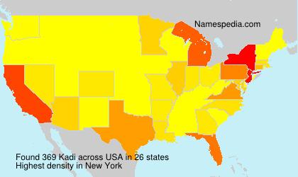 Familiennamen Kadi - USA