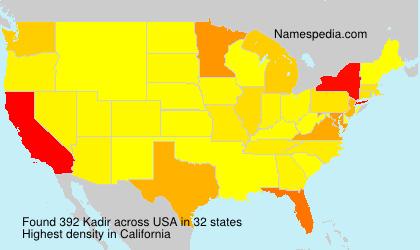 Surname Kadir in USA