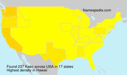 Surname Kaeo in USA