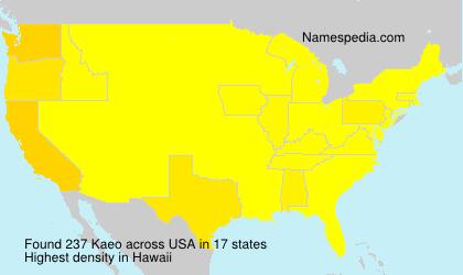 Surname Kaeo in USA