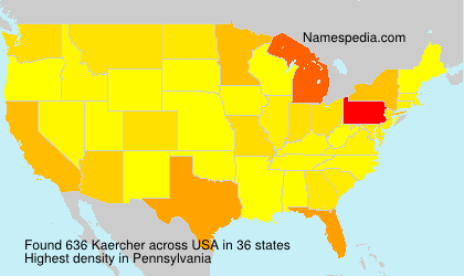 Surname Kaercher in USA
