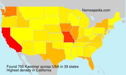 Surname Kaestner in USA