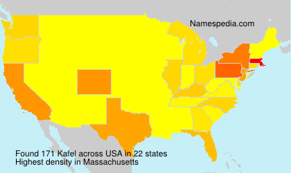 Surname Kafel in USA