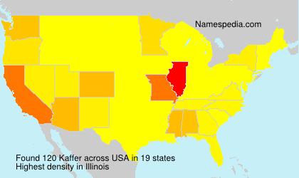Familiennamen Kaffer - USA