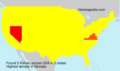 Surname Kafuku in USA