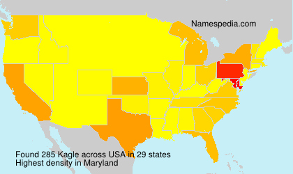 Surname Kagle in USA
