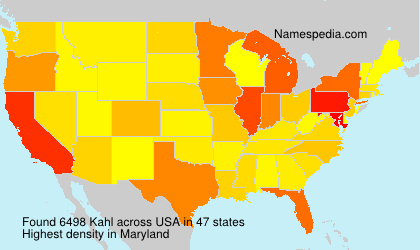 Surname Kahl in USA