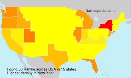 Surname Kahlke in USA