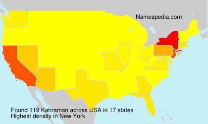 Surname Kahraman in USA