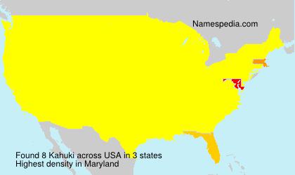 Surname Kahuki in USA