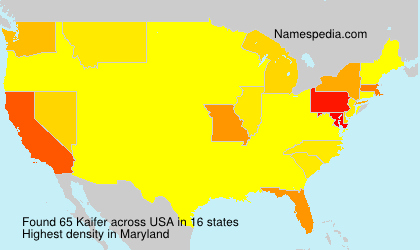 Surname Kaifer in USA