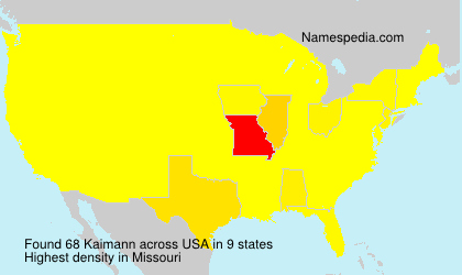 Surname Kaimann in USA