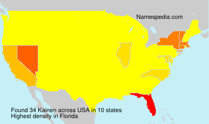 Surname Kainen in USA
