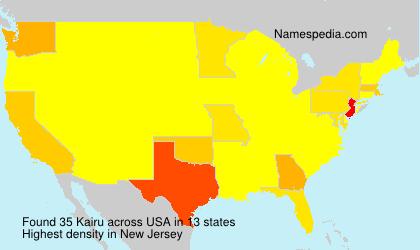 Familiennamen Kairu - USA