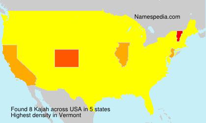 Surname Kajah in USA