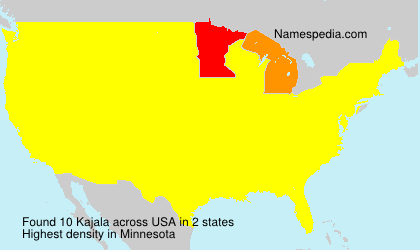 Surname Kajala in USA