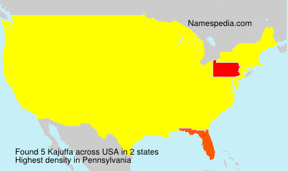 Surname Kajuffa in USA