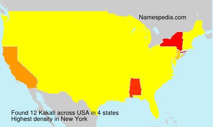 Familiennamen Kakati - USA
