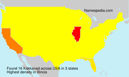 Surname Kakkanad in USA