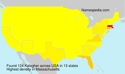 Surname Kalagher in USA
