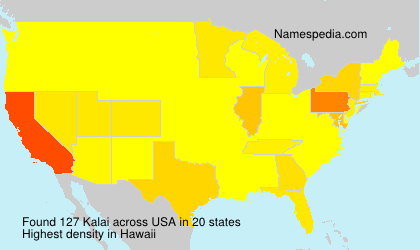 Surname Kalai in USA