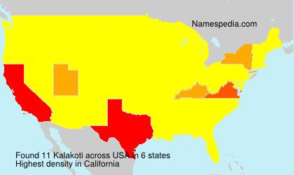 Surname Kalakoti in USA
