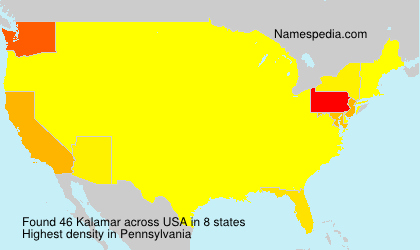 Surname Kalamar in USA